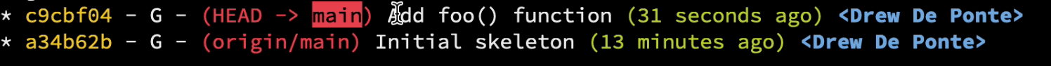 Added foo() commit
